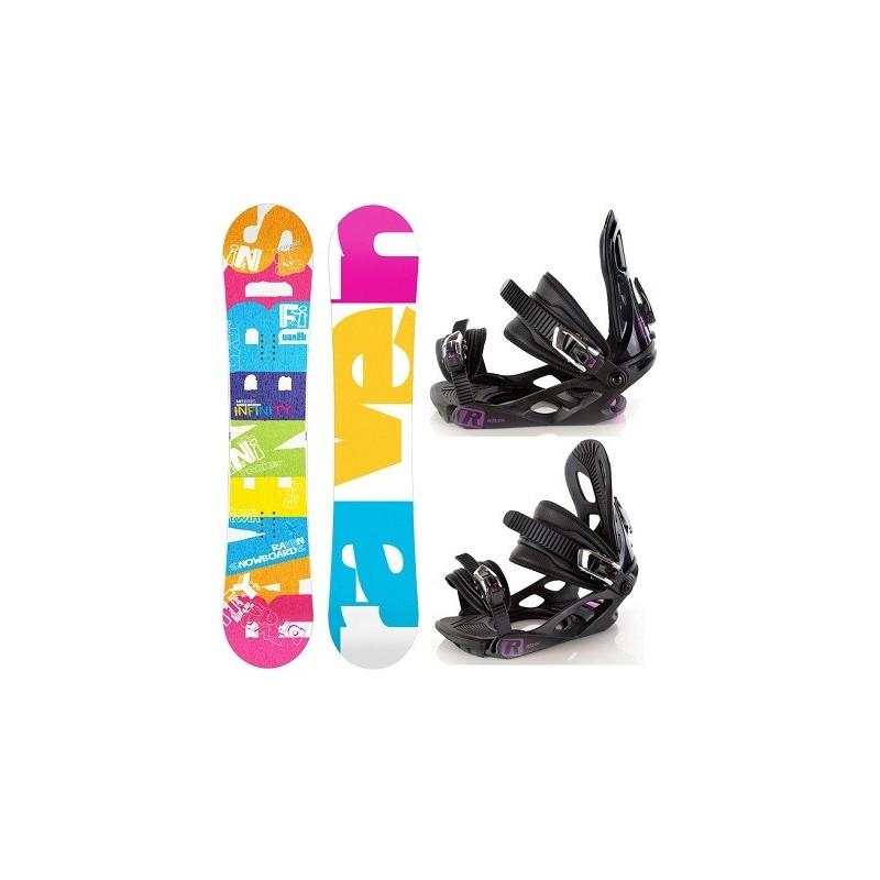 Zestaw snowboard Raven Infinity 2015 + wiązania Raven s200 Black/Violet